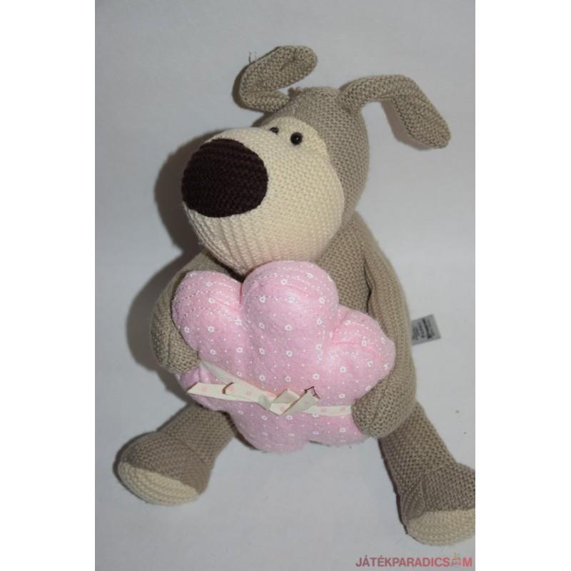 Boofle kötött plüss kutya virágos párnával