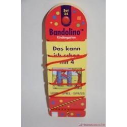 """Bandolino készségfejlesztő fűzős párosító játék """"Das kann ich schon mit 4"""" Set 24"""