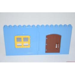 Lego Duplo kék fal ablakkal és ajtóval