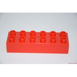 Lego Duplo  piros 6-os hosszú elem