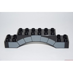 Lego Duplo íves várfal fekete elem