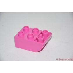 Lego Duplo rózsaszín domború elem