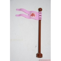 Lego Duplo rózsaszín zászló