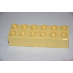 Lego Duplo sárga 6-os hosszú elem