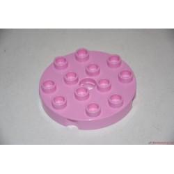 Lego Duplo kerek rózsaszín elem