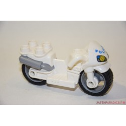 Lego Duplo fehér rendőr motor