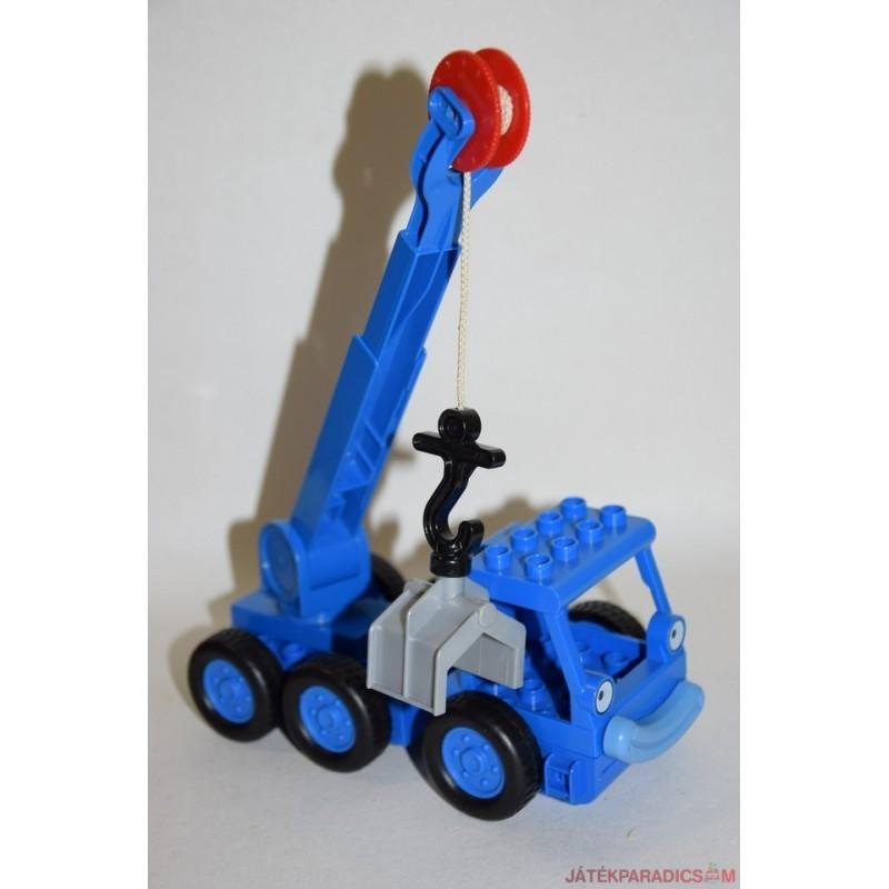 Lego Duplo Bob The Builder kék markoló autó
