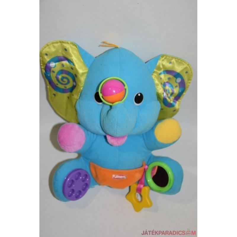 Playscool csörgős foglalkoztató plüss elefánt